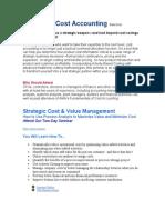 Advanced Cost Accounting Seminar