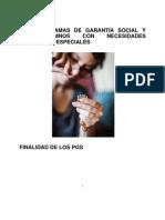 LOS PROGRAMAS DE GARANTÍA SOCIAL Y LOS ALUMNOS CON NECESIDADES EDUCATIVAS ESPECIALES