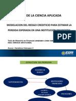Modelación del riesgo crediticio para estimar la pérdida esperada en una institución financiera