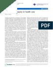 The Hidden Inequity in Health Care