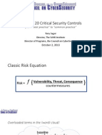 Top 20 Critical Security Controls From Best Practice to Common Practice (CSC 2013)