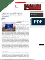 Discorso o Pratica Dell'Utopia- Colloquio Virtuale Con Carlo Formenti