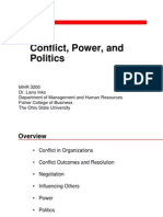 11 Conflict, Power and Politics