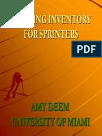 Amy Deem - Training Inventory for Sprinters