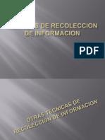 Metodos de Recoleccion de Informacion
