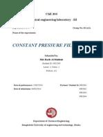 Constant Pressure Filtration