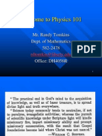 Physics 101 Chapter 1 and Intro
