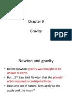 Physics 101 Chapter 9 Gravity