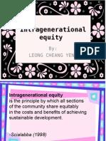 Intragenerational Equity