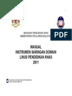 7. Manual Pentadbiran Instrumen Domain Pendidikan Khas