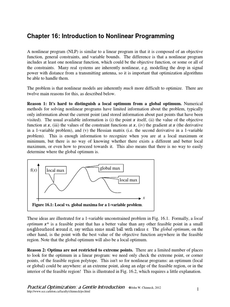 feasibility and infeasibility in optimization chinneck john w