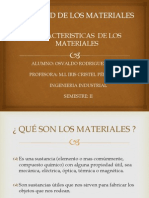 Caracteristicas de Los Materiales POWER POINT