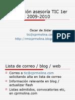 Cursos asesoría TIC 1er trimestre 2009-2010