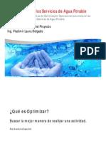 Presentación Optimización Operacional de Servicios de Agua Potable