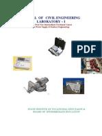 Manual of Civil Engineering Laboratory