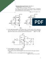 Tutorial Sheet - 6 (Transistor Amplifier) - Copy