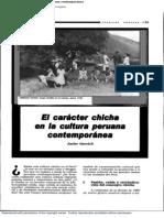 GARVICH, Javier. El Caracter Chicha en La Cultura Peruana Contemporanea