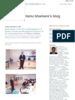 Shantanu Bhamare's Blog