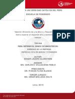 Nacional. Gestión eficiente de una micro y pequeña.  Perú 2010