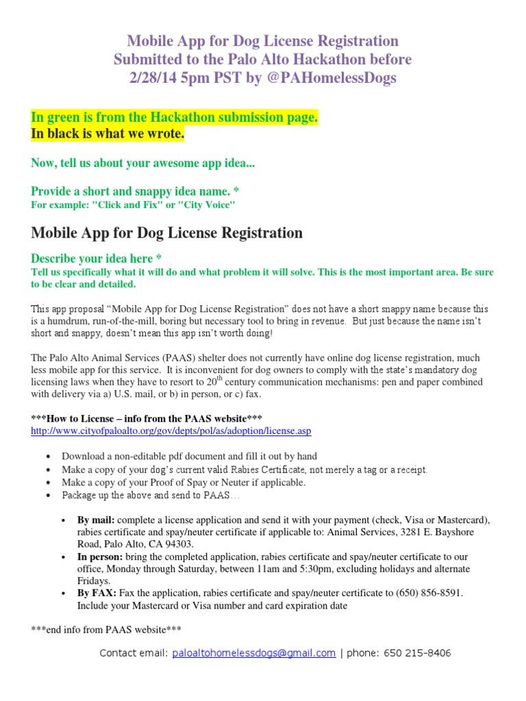 Mobile App For Dog License Registration Application Software