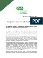 COMPROMISO tacha de mentireiro a Andrés Sampedro nas declaracións sobre o cobros dos cursos conservatorio