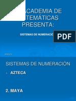 SISTEMAS DE NUMERACIÓN AZTECA Y MAYA