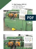 UPW63 revisionata overhauled pdf rullatrice thread rolling