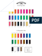 Inks Colour Chart for CAlligraphy Winsor & NEwton