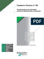 Cuaderno Tecnico Schneider 195 Transformadores de Corriente