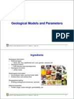 Geological Models and Parameters