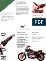 Brochure «Contre le vol. Sous l'aile de la prévention moto»