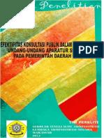 Efektifitas Konsultasi Publik Dalam Penyusunan Undang-Undang Aparatur Sipil Negara Pada Pemerintah Daerah Di Indonesia