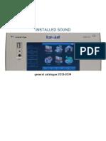 FBT Installed Sound Catalogue 2013