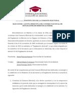 Acta de Constitucion Mesa Electoral CONEDE