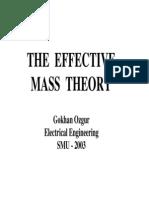 Effective Mass Theory July25-03