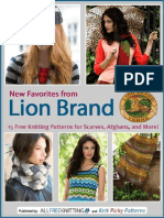 New Favorites From Lion Brand Free Knitting Patterns for Scarves Afghans and More Free eBook
