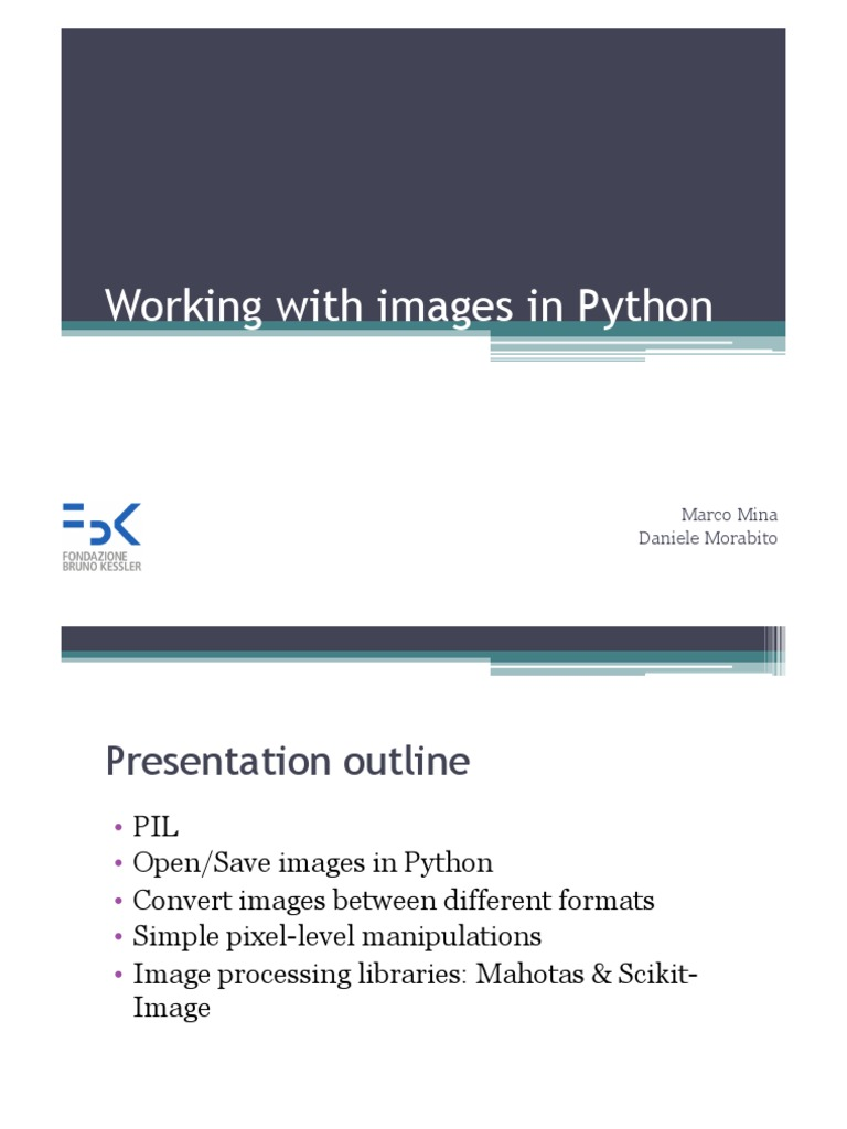 Introduction to Image Libraries | File Format | Image Processing