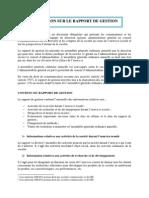 Formation Rapport de Gestion