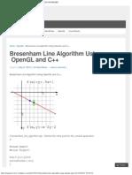 Bresenham Line Algorithm Using OpenGL and C++ _ CSE ENGINEERS