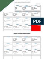 Jadwal Rencana Kegiatan Harian Semester 2