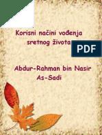 Korisni načini vođenja sretnog života - Abdur-Rahman bin Nasir As-Sadi