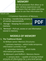 Memory Cognitive Psych