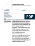 HSC Chemistry Module 9.2 Summary
