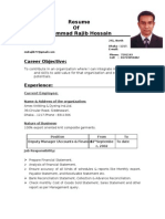 Resume of Mohammad Rajib Hossain