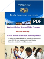 Master in Medical Science (MMSc),Phd in Medical Science,TAU
