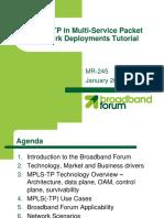Broadband Forum MPLST-TP Tutorial