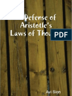 In Defense of Aristotle's Laws of Thought