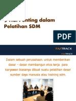 9 Hal Penting Dalam Pelatihan SDM