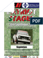 Patriot Stages 07 Regulations