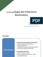 Metodología del Urbanismo Bioclimático